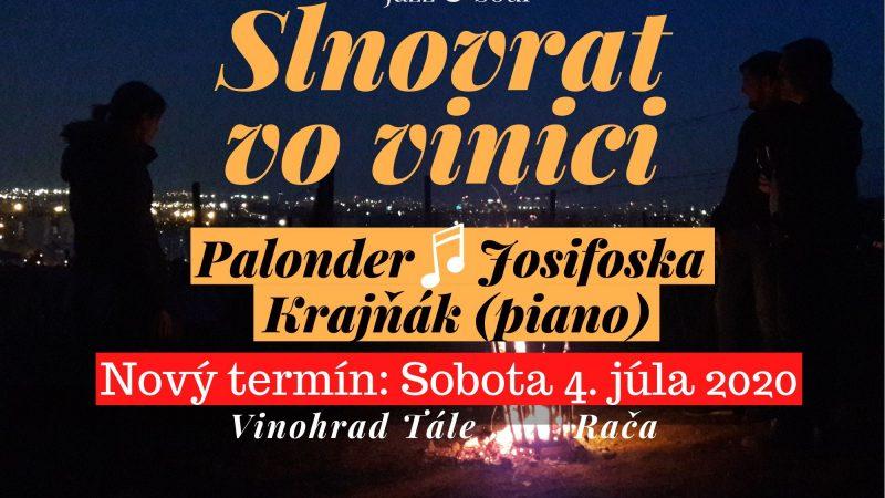 Slnovrat, jazz a soul vo vinici bude v Rači napokon 4. júla