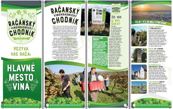 Brožúrka ponúka ucelenú prezentáciu račianského chotára aj vinohradníkov